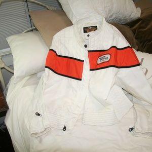 Harley Davidson women's jacket white with logo XL